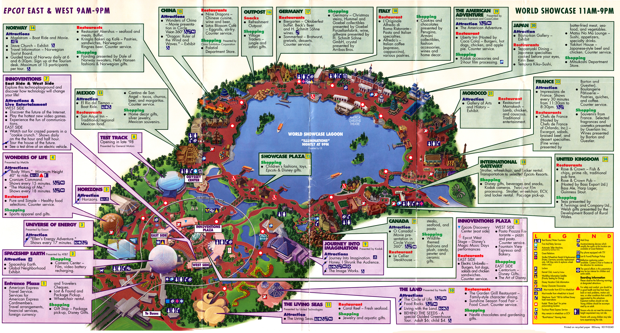 Epcotthen now blogging disney epcot guide map 1998 gumiabroncs