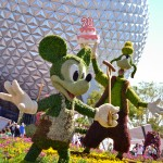 Mickey Mouse and Goofy Topiaries, photograph by Samantha McElhaney