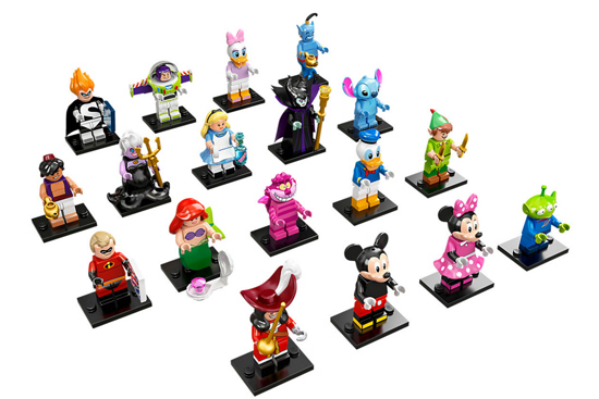 The Disney Series of LEGO® collectible minifigures