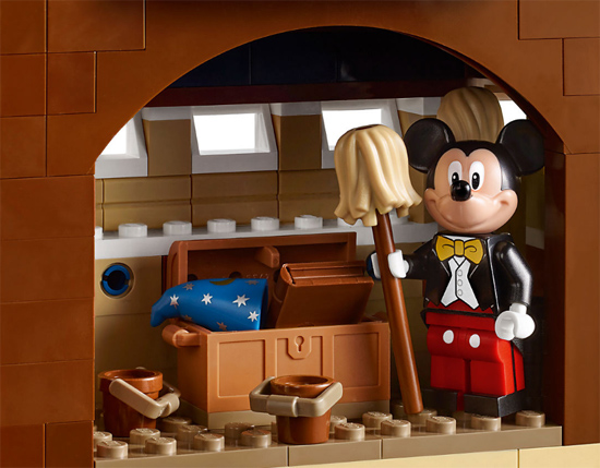 Mickey Mouse inside the LEGO® Disney Castle
